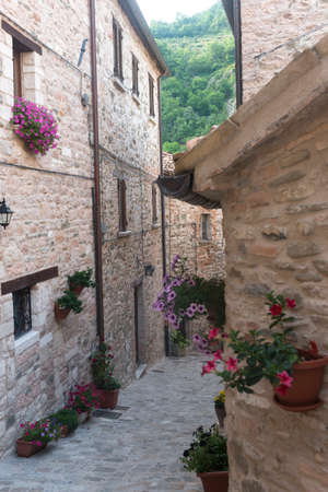 urbino: Piobbico (Pesaro e Urbino, Marches, italy): old village Stock Photo