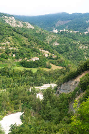 urbino: Mountain landscape in Montefeltro (Marches, Italy) at summer