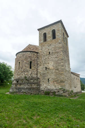 messa: Montefeltro (Marches, Italy): exterior of the medieval church of Ponte Messa