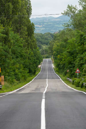 appennino: a road Stock Photo