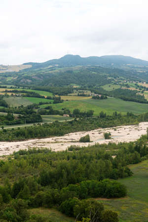 appennino: Mountain landscape in Montefeltro (Marches, Italy) at summer