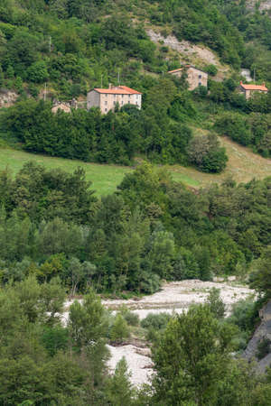 Mountain landscape in Montefeltro (Marches, Italy) at summer