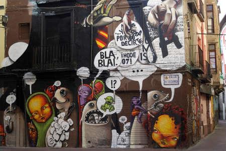figurative art: Zaragoza (Aragon, Spain) - Mural paintings Editorial