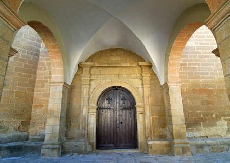 aragon: Sietamo (Huesca, Aragon, Spain) - Portico of the church