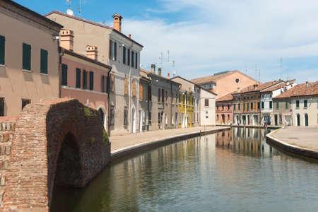 ferrara: Comacchio (Ferrara, Emilia-Romagna, Italy): the typical city with its canals