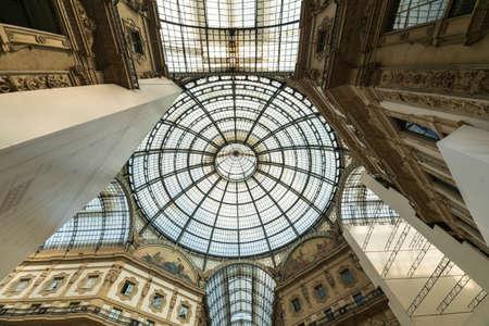 vittorio emanuele: Milan (Lombardy, Italy) - Gallery called Galleria Vittorio Emanuele Editorial