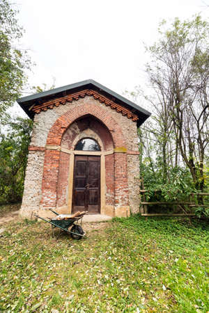 monza: Historic watermill in the Monza Park (Lombardy, Italy) at fall Stock Photo