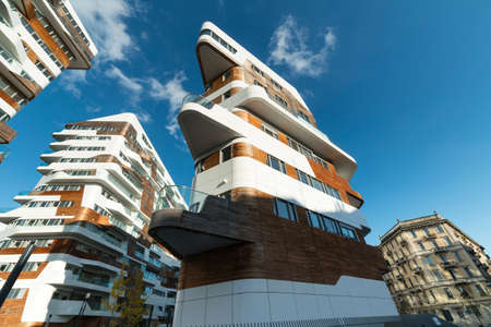 citylife: Citylife, modern residential buildings in Milan (Lombardy, Italy) Stock Photo