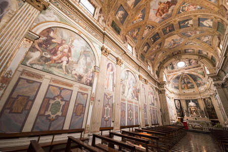 italian fresco: Milan (Lombardy, Italy): the historic church named Certosa di Garegnano, interior Editorial