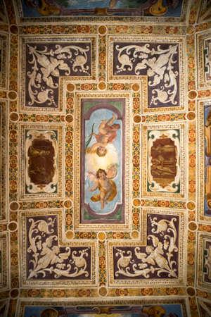 putto: Milan (Lombardy, Italy): the historic church named Certosa di Garegnano, interior Editorial