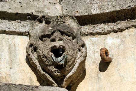 taverna: Canonica al Lambro (Monza e Brianza, Lombardy, Italy): the historic Villa Taverna, bas-relief on the facade