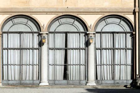 taverna: Canonica al Lambro (Monza e Brianza, Lombardy, Italy): the historic Villa Taverna, facade