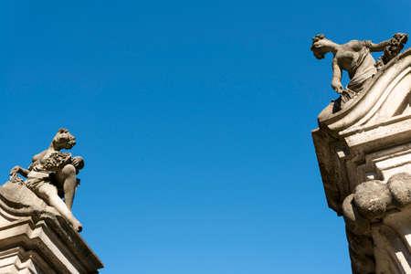 taverna: Canonica al Lambro (Monza e Brianza, Lombardy, Italy): the historic Villa Taverna, statues