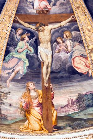 Milano (Lombardia, Italia): la storica chiesa di nome Certosa di Garegnano, interno Archivio Fotografico - 36286038