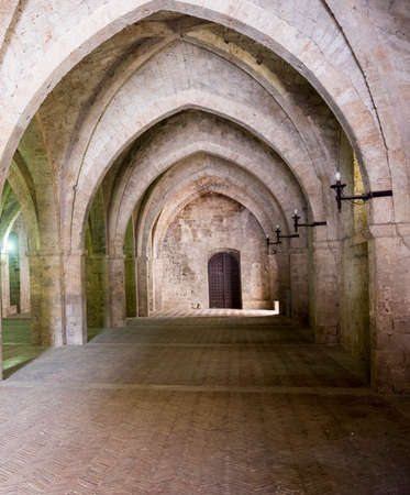 rieti: RIeti (Lazio, Italy), portico of the medieval Palace of the Popes Editorial