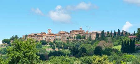 terni: View of Otricoli (Terni, Umbria, Italy), historic town, at summer Stock Photo