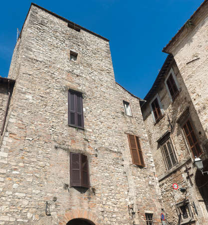 terni day: Panoramic view of Narni (Terni, Umbria, Italy), medieval city: a typical old square Editorial