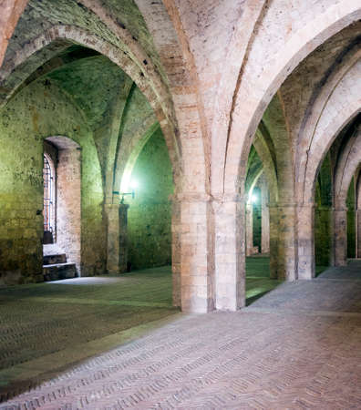 portico: RIeti (Lazio, Italy), portico of the medieval Palace of the Popes Editorial