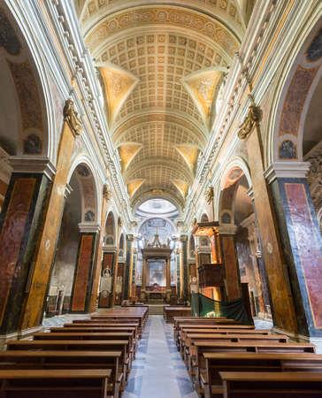 rieti: RIeti (Lazio, Italy), interior of the medieval duomo