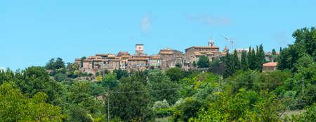 terni day: View of Otricoli (Terni, Umbria, Italy), historic town, at summer Stock Photo