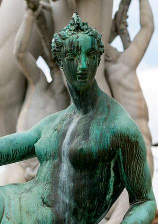 signoria square: Florence (Firenze, Tuscany, Italy): Piazza della Signoria, the Neptunes Fountain