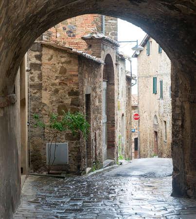 montalcino: Montalcino (Siena, Tuscany, Italy): old street of the medieval town