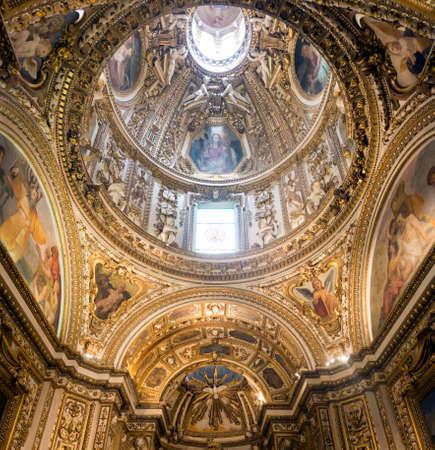 rieti: RIeti (Lazio, Italy), interior of the medieval duomo. Altar Editorial