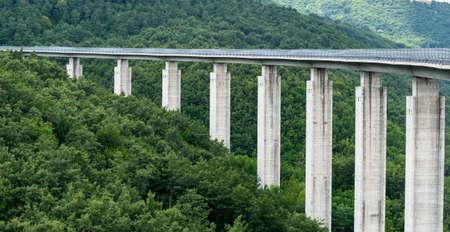 rieti: The highway to Leonessa (Rieti, Lazio, Italy) at summer