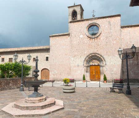 rieti: The historic church of  San Francesco in Leonessa (Rieti, Lazio, Italy) Editorial