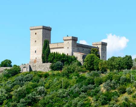 terni: Panoramic view of Narni (Terni, Umbria, Italy), medieval city. The castle