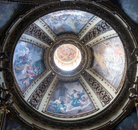 rieti: RIeti (Lazio, Italy), interior of the medieval duomo. Dome Editorial