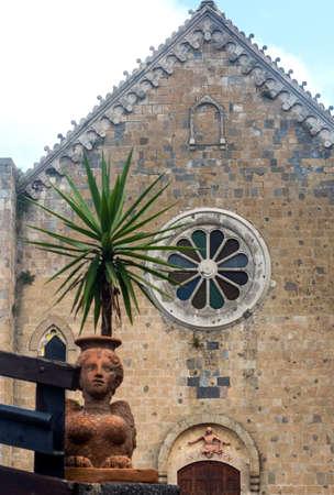 viterbo: Bolsena (Viterbo, Lazio, Italy): medieval church facade Stock Photo