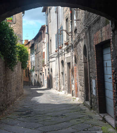viterbo: Viterbo (Lazio, Italy): typical old street in the medieval town Stock Photo