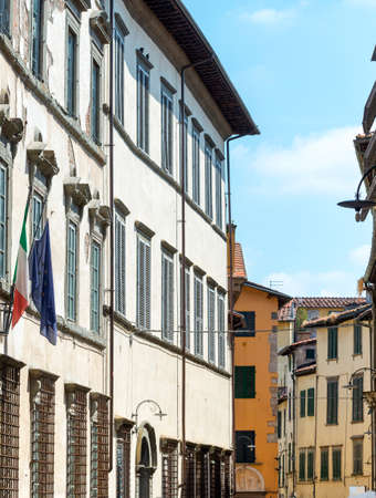 lucca: Lucca (Tuscany, Italy), street with historic buildings