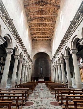 viterbo: Viterbo (Lazio, Italy), interior of the medieval cathedral.