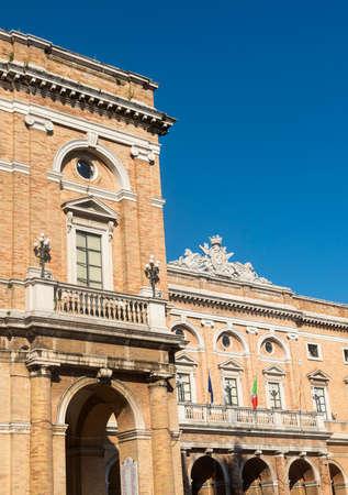 recanati: Recanati (Macerata, Marches, Italy): historic buildings in the main square of the city