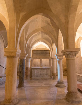 crypt: Osimo (Ancona, Marches, Italy): underground crypt of the medieval cathedral