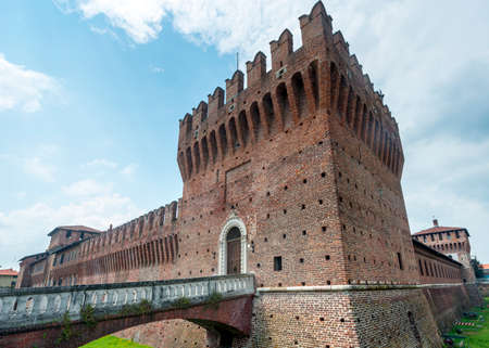Galliate (Novara, Piedmont, Italy), the castle known as Castello Sforzesco Editorial