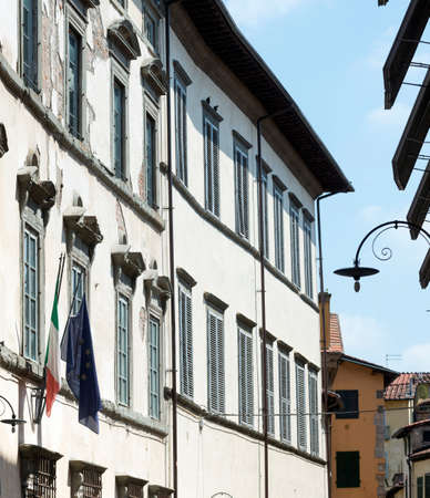 historic buildings: Lucca (Tuscany, Italy), street with historic buildings