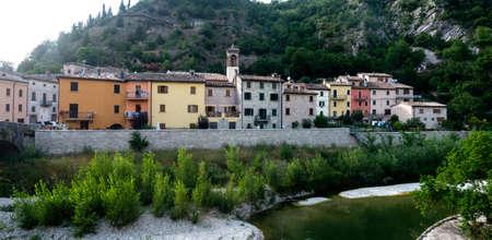 Piobbico (Pesaro e Urbino, Marche, Italia): borgo antico Archivio Fotografico - 38387952