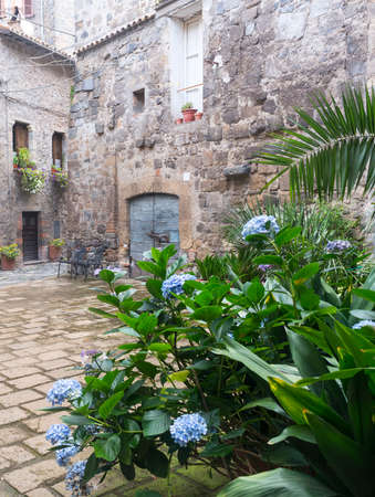 viterbo: Bolsena (Viterbo, Lazio, Italy): old typical houses of the medieval town