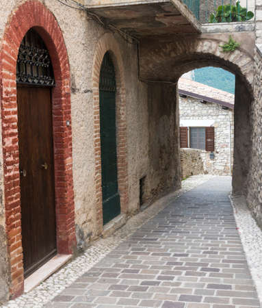 rieti: Morro Reatino (Rieti, Lazio, Italy), historic village: typical old street Stock Photo