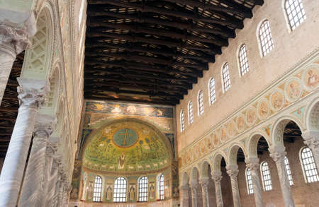ravenna: S. Apollinare in Classe (Ravenna, Emilia-Romagna, Italy): interior of the medieval church, with mosaics