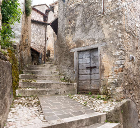 rieti: Morro Reatino (Rieti, Lazio, Italy), historic village: typical old street Stock Photo