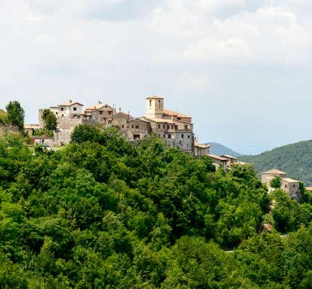 rieti: Morro Reatino (Rieti, Lazio, Italy), historic village: panoramic view on the valley