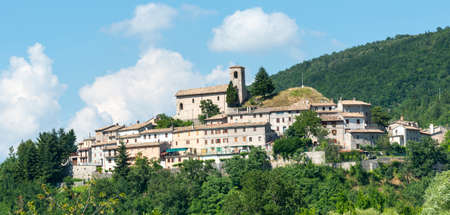 The historic village of Appennino (Macerata, Marches, Italy) at summer