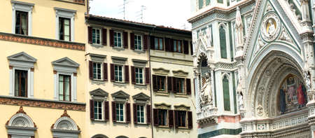 firenze: Florence (Firenze, Tuscany, Italy): the cathedral facade and historic palace