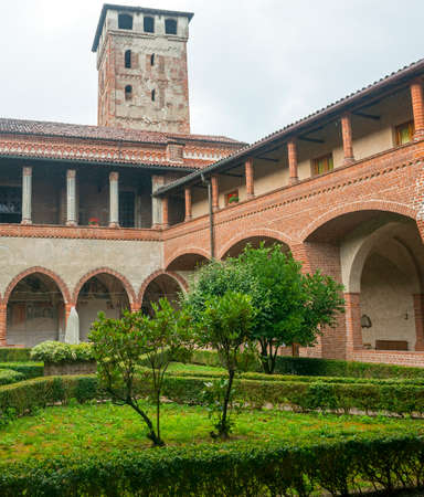 cloister: San Nazzaro Sesia (Novara, Piedmont, Italy): the cloister of the medieval abbey