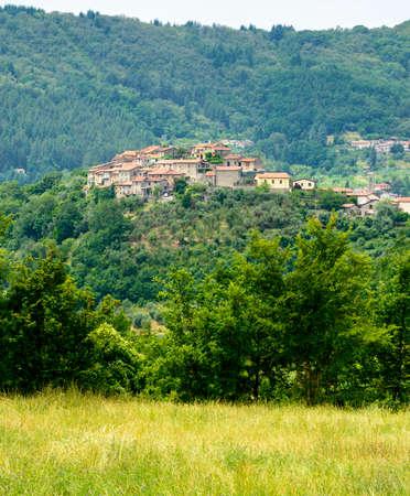 massa: Regnano (Massa e Carrara, Tuscany, Italy), old village in Lunigiana and surrounding country