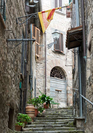 viterbo: Bolsena (Viterbo, Lazio, Italy): old typical street of the medieval town